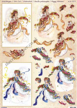 Angel of Faith Die Cut 3d Decoupage Sheet From Reddy Creative Cards